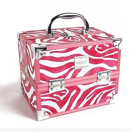 06a22c2bb1bb4 Amazon.com: Toiletry Bag Travel Double Open Aluminum Beauty Makeup ...