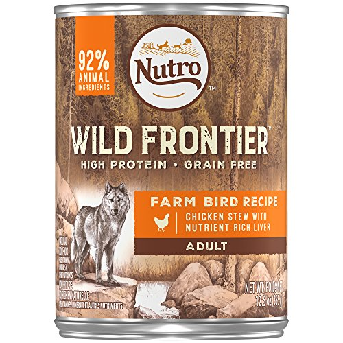 Liver Chunks (NUTRO Wild Frontier Farm Bird Recipe Chicken Chunks in Gravy With Nutrient Rich Liver Canned Dog Food 12.5 Ounces (Pack of 12))