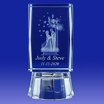 328a0b5448d Wedding Favors Ideas (12 PCS) Gifts Bridal Showers Personalized Custom  Etched Laser Engraving 3D...