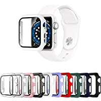 Mocodi 10 Pack Apple Watch Case 44mm Series 6/5/4/SE with Tempered Glass Screen Protector,Ultra-Thin Hard PC Shockproof…