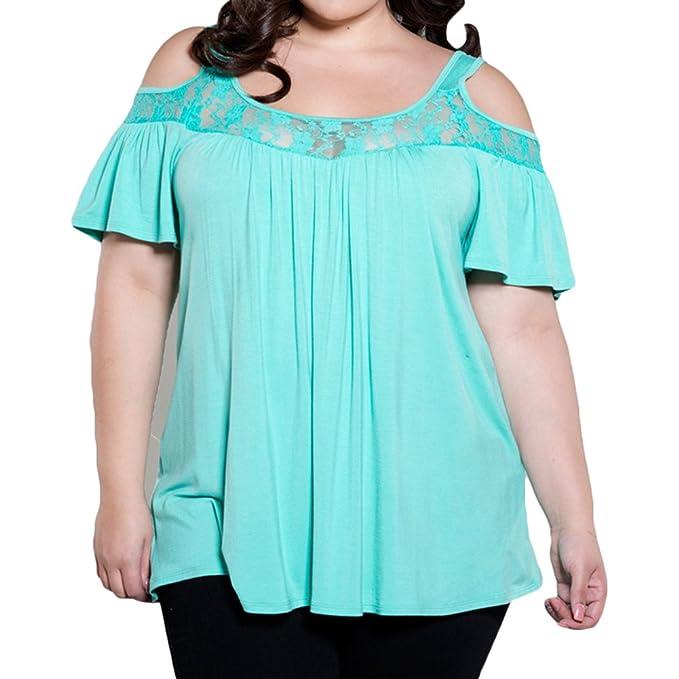 hibote Mujer Blusas Plus Size camisas Sling T-shirts Jumpers de color sólido camisa Camisas