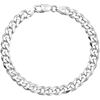 Yellow Chimes 925 Sterling Silver Hallmark and Certified Purity Silver Chain Bracelet for Men and Boys
