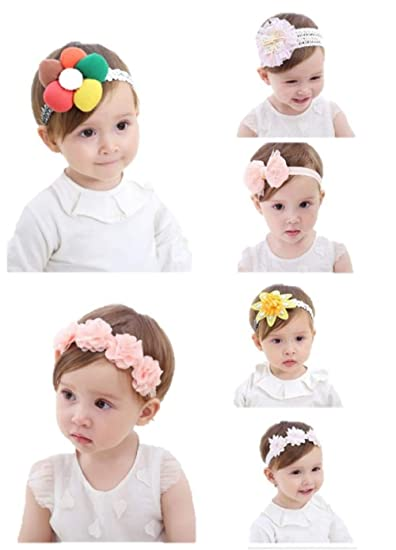 Clothing, Shoes & Accessories Girls Baby Infant Kids Cotton Flower Soft Elastic Headband Hair wear head band