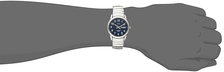T20031pf Analógico Para Timex Correa Inoxidable Reloj Acero De Con Hombre Cuarzo En nwPX0O8k