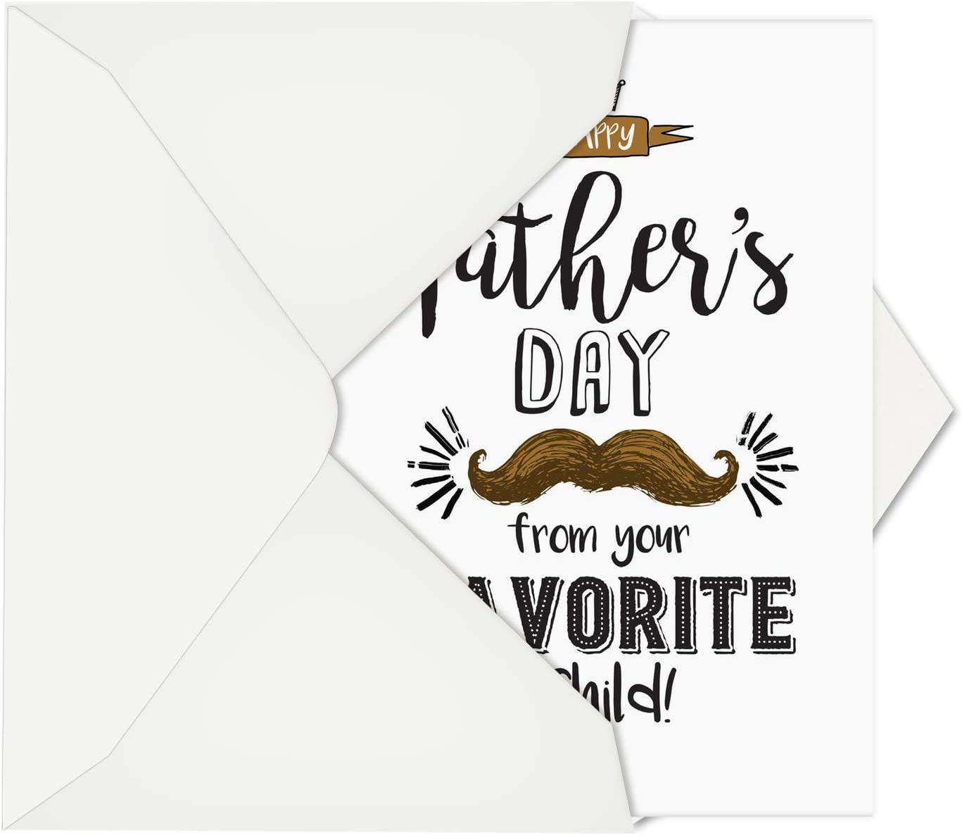 Amazon Com Nobleworks Funny Father S Day Card With Envelope Humor Greeting Card For Dads Stepdad Grandpa From Dad S Favorite Child C6765fdg Office Products