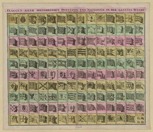 Price comparison product image Photo: Flaggen aller seefahrenden potenzen und nation en in der gantzen weldt