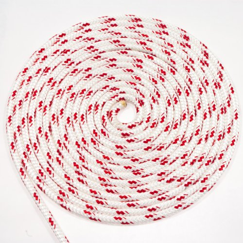 """25' of 5/16"""" (8mm) Sta-Set Red Fleck by New England Ropes"""