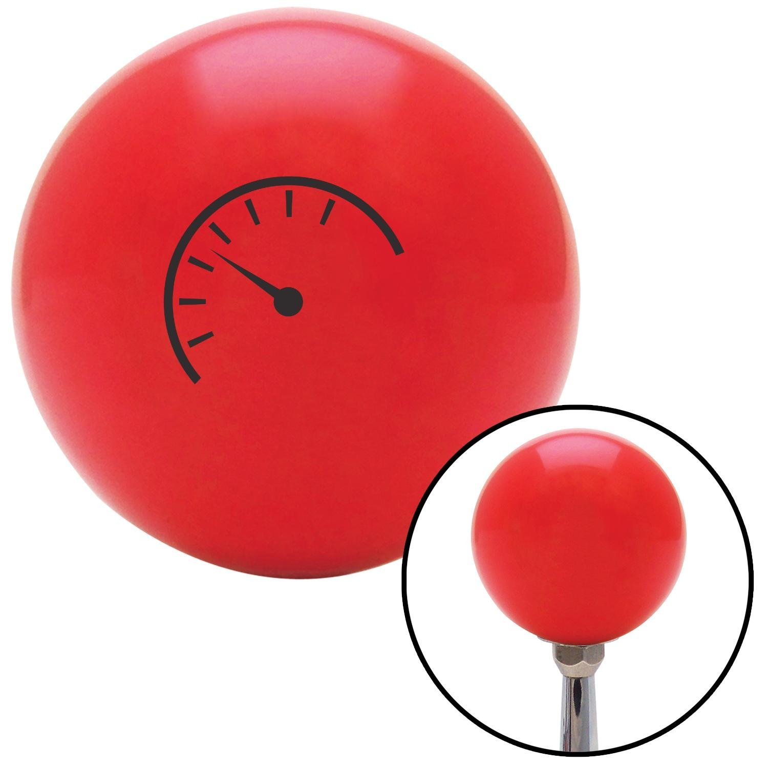 American Shifter 94254 Red Shift Knob with M16 x 1.5 Insert Black Automotive Gauge