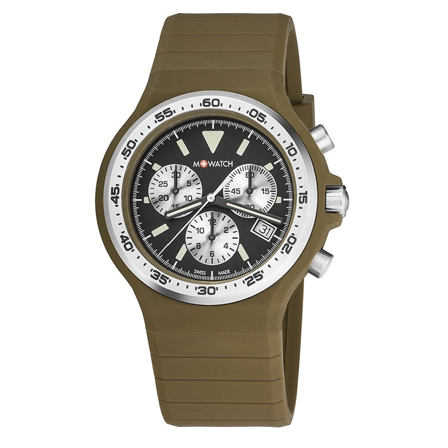 M-WATCH Unisex-Armbanduhr Maxi Colour Chronograph Quarz WYO.15420.RF
