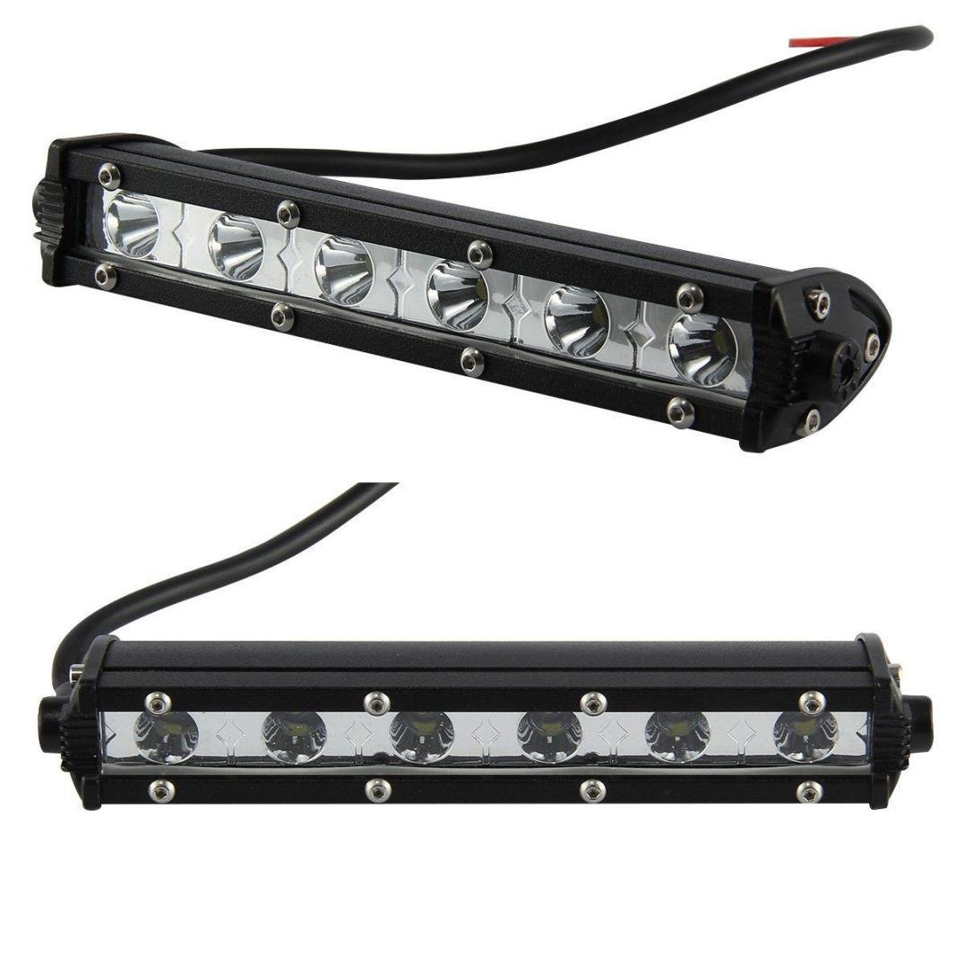 Car Lights,ELOGOOG 7inch 18W Led Work Light Bar Flood Spot Suv Boat Driving Lamp Offroad 4WD