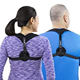 Posture Corrector W/ Detachable Pads | Comfortable for Women & Men | Clavicle & Back Support Brace Improves Bad Posture, Shoulder Alignment, Thoracic Kyphosis & Upper Back Pain Relief | Fits 24