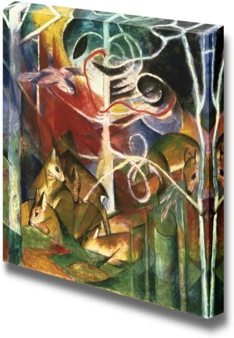 Wall26 Deer In The Forest By Franz Marc Canvas Print Wall Art Famous Painting Reproduction 24 X 24 Posters Prints