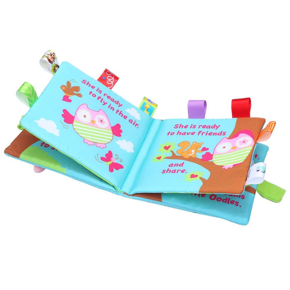 Puzzle Animaux Tissu Livre B/éb/é Jouets Jeux Educatifs Hibou danimaux Cadeau Bo/îte D/éveloppement Livres Rameng
