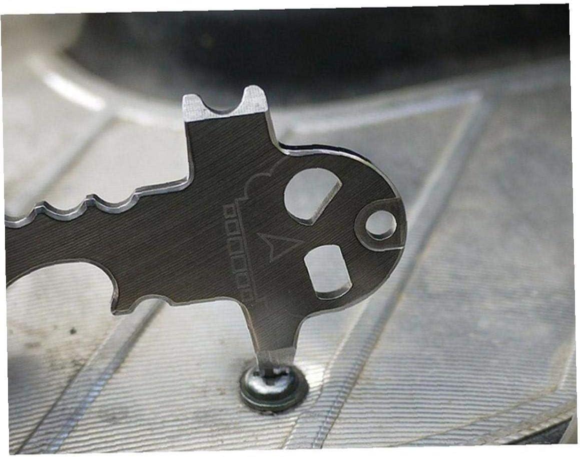 Kit de Herramientas al Aire Libre Inoxidable Multi Bolsillo Gadget Utilidad EDC Llavero Llavero