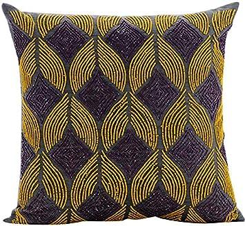Amazon.com: Decorativos fundas de almohada gris, fundas de ...
