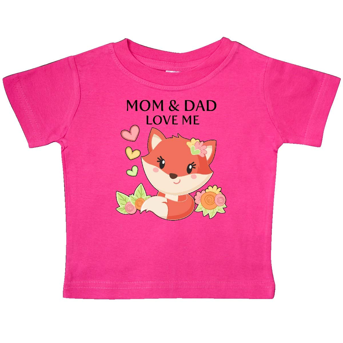 inktastic Mom and Dad Love Me Little Fox Baby T-Shirt