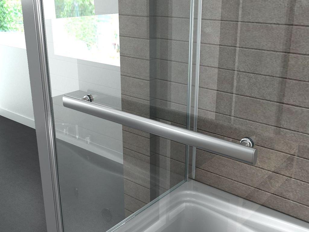 Eck-Duschtrennwand UNIONO 70 (Badewanne): Amazon.de: Baumarkt | {Duschabtrennung badewanne über eck 18}