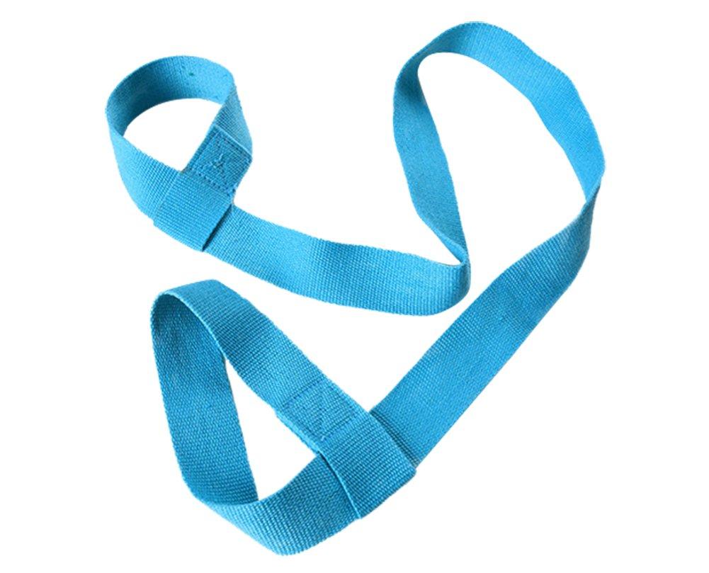 Freediヨガマットストラップキャリースリング丈夫コットンヨガマットキャリアサイズ調整可能、1ピース  ブルー B07DD63ZK2