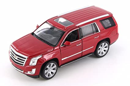 Amazon Com Welly 2017 Cadillac Escalade Red 24084wr 1 24 Scale