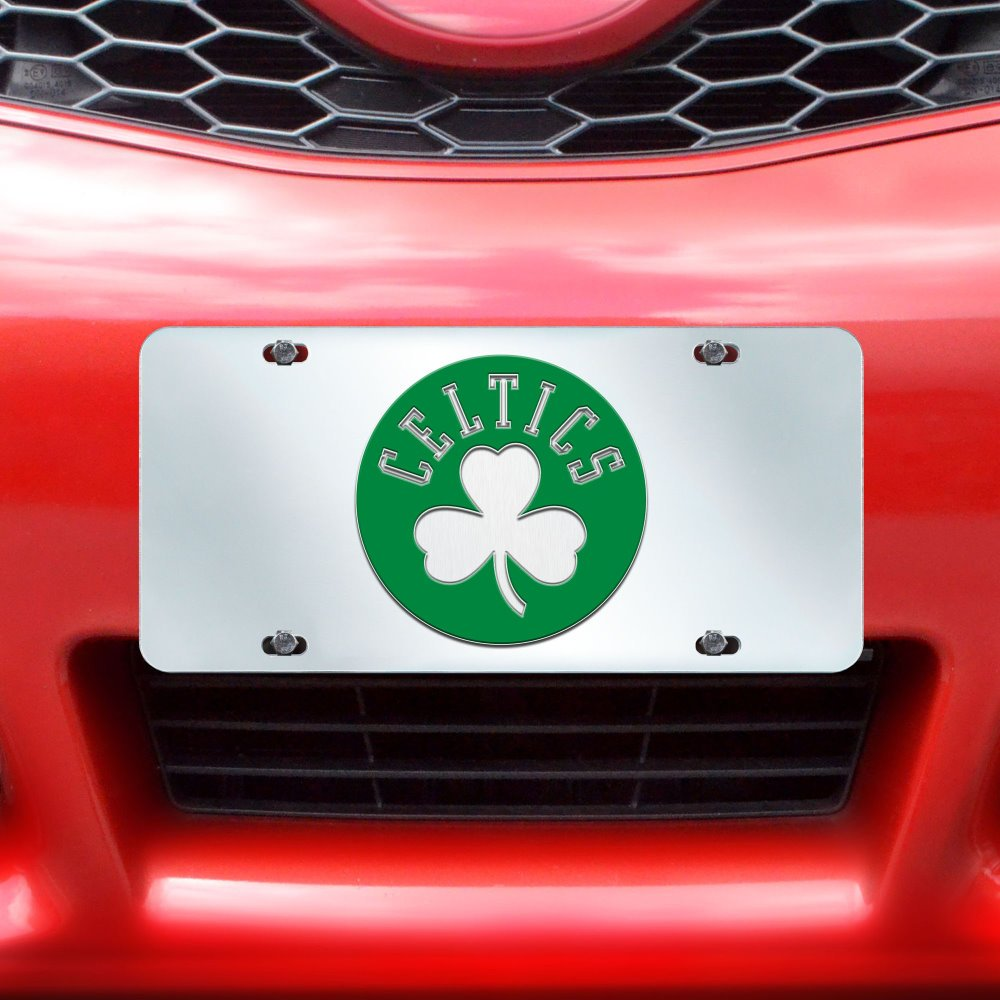 Fanmats NBA Boston Celtics License Plate-Inlaid 6x12