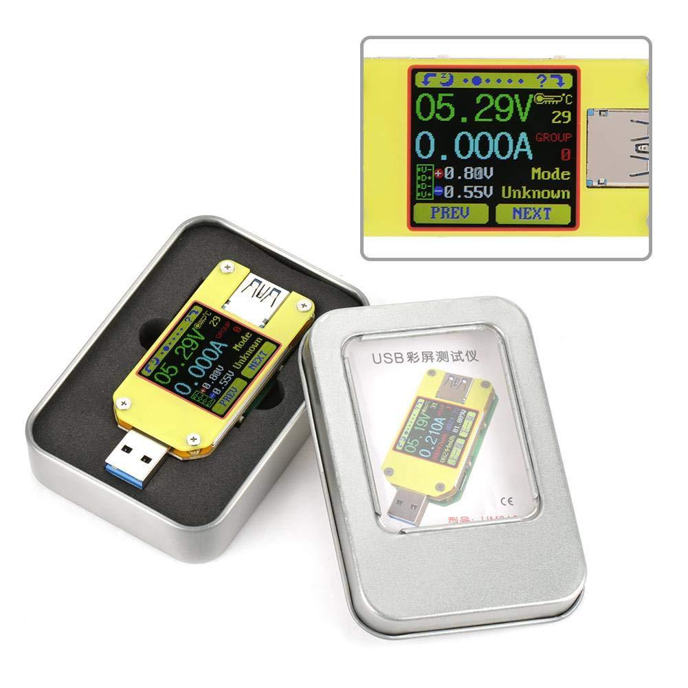 Akozon USB Multim/ètre Testeur de Courant Type-C M/ètre pour APP USB3.0 Couleur LCD Affichage Testeur Tension Courant M/ètre Testeur de Tension USB UM34C