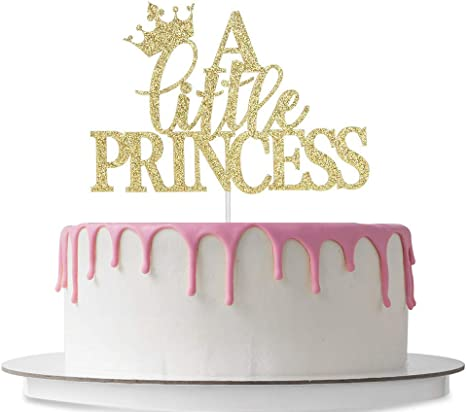 Pleasant Amazon Com A Little Princess Cake Topper Baby Girl First Personalised Birthday Cards Xaembasilily Jamesorg