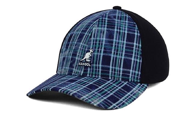 8f6a36848d2 Kangol Distressed Plaid Navy   Black Stretch Fit Hat Cap L XL at ...
