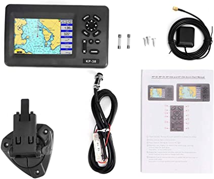 Yctze Marine GPS, Plotter con pantalla LCD LCD Navigator GPS ...