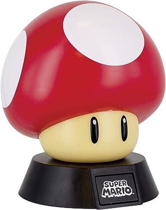 Todo para el streamer: Super Mario Lámpara Mushroom, 50 W, Multicolor           [Clase de eficiencia energética A]