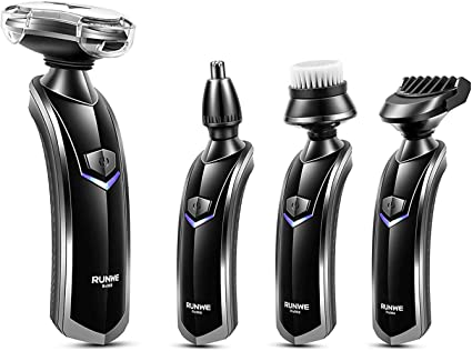 RUNWE kit de aseo todo en 1 para hombre, afeitadora eléctrica ...
