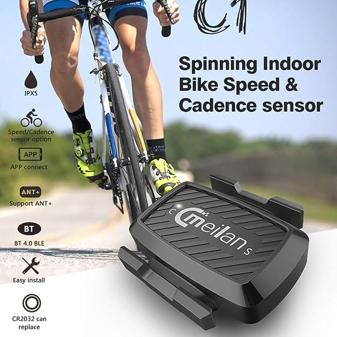 Festnight C1 BT Spinning Bike Speed y Entrenamiento de sensores de ...