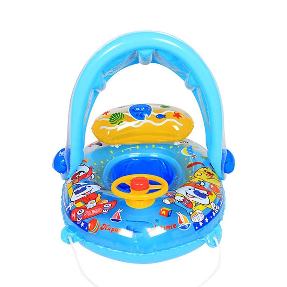 Aufblasbarer Pool, Kinderschwimmring Sitz Kinder Achselring Junge Mädchen Yacht Abnehmbare Markise Schwimmring