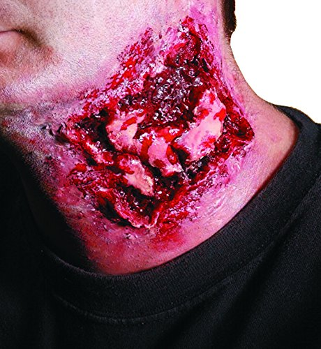 Scary Makeup (Rubie's Costume Reel F/X Chomped Bite Wound Kit, Red, One Size)