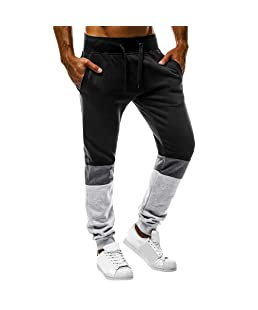 Solike Homme Pantalon Longue de Sport Jogging Bas de Survêtement Sweatwear Pants Slim Fit Décontracté Sportwear Pants Taille Élastique Workout Jogger Gym Running (Medium, Noir-2)