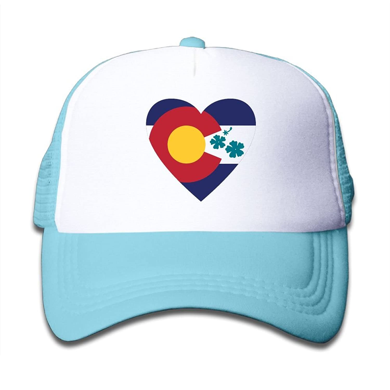 49413e2cc6bab SDRG5 Colorado Hibiscusn Heart Love Child Baby Kid Adjustable Trucker Hat  Summer Snapback