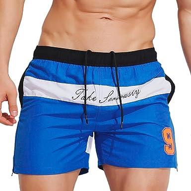 31e051118af28 Allywit Men's Beachwear Quick Dry Striped Board Shorts Swim Trunks |  Amazon.com