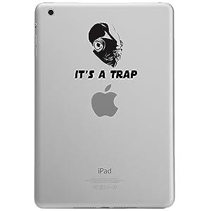 """It's A Trap Admiral Ackbar IPAD MINI Tablet Vinyl Sticker Decal (4"""" BLACK)"""