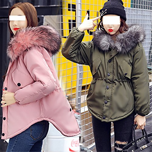 YouzhiWan007 New Womens Cotton Padded Winter Jacket Cotton Slim Hooded Cotton Feather Female 0720
