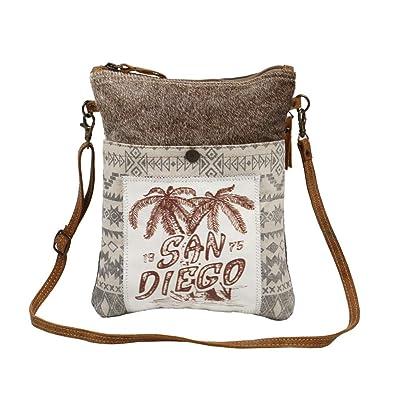 Amazon.com: Myra Bag San Diego - Bolsa de piel de vaca y ...