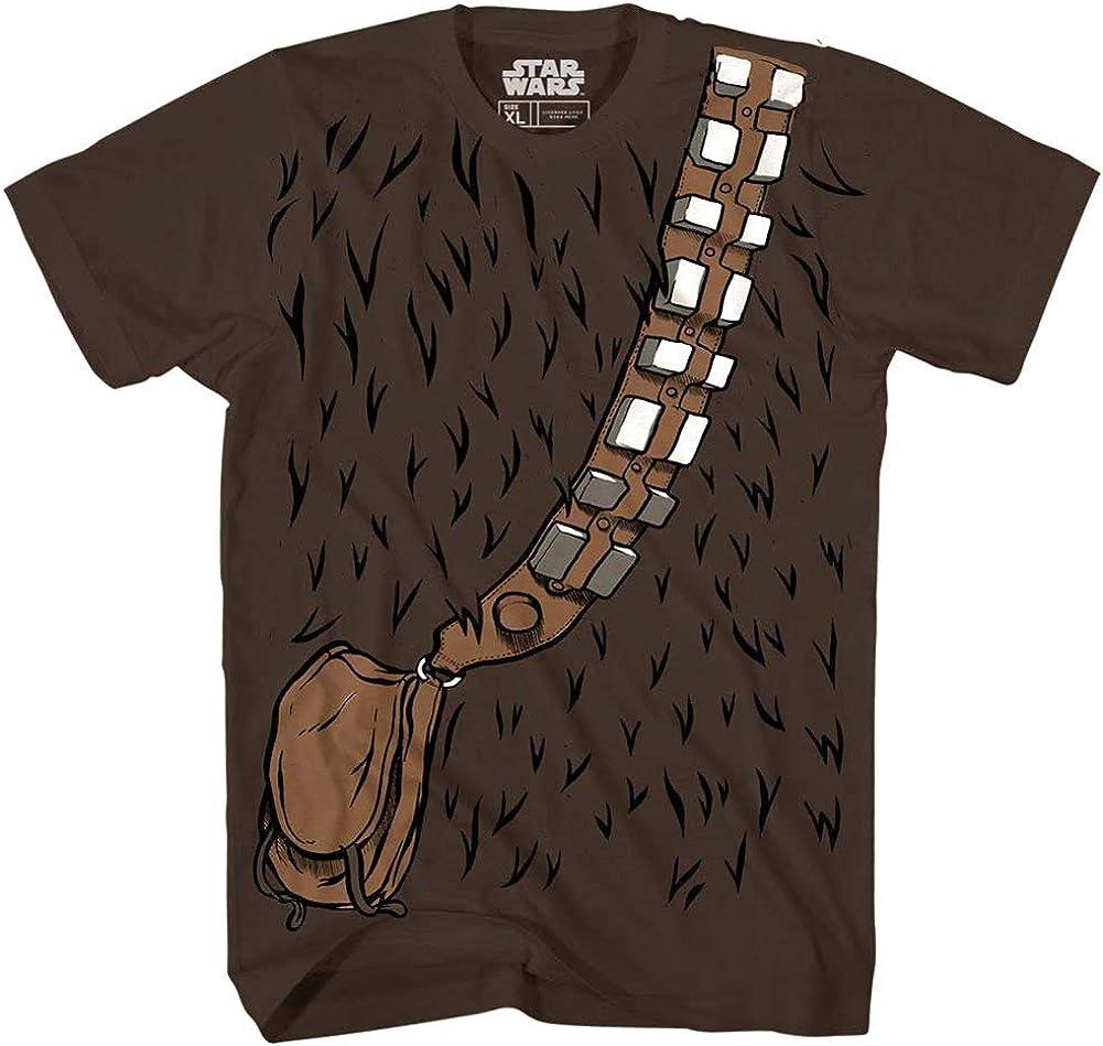 STAR WARS Chewbacca Chewie Costume Funny Humor Pun Adult Men's Graphic Tee T-Shirt (Medium) Brown