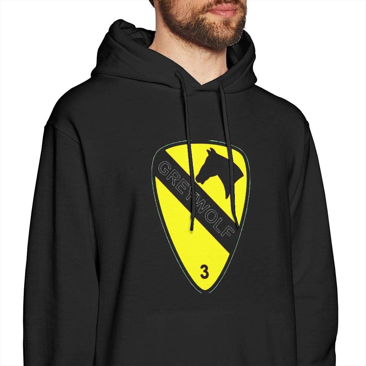 3rd Brigade 1st Cav Div Greywolf Mens Hooded Sweatshirt Theme Printed Fashion Hoodie