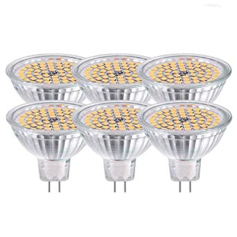 GVOREE MR16 GU5.3 Bombillas Led Lámpara Blanco Cálido 2700K CA DC 12V 5W Reemplace el ...