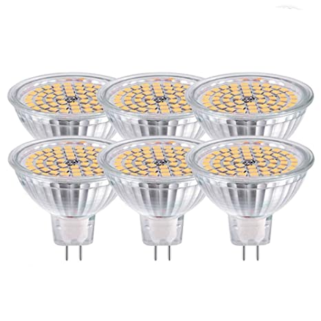 GVOREE MR16 GU5.3 Bombillas Led Lámpara Blanco Cálido 2700K CA DC 12V 5W Reemplace