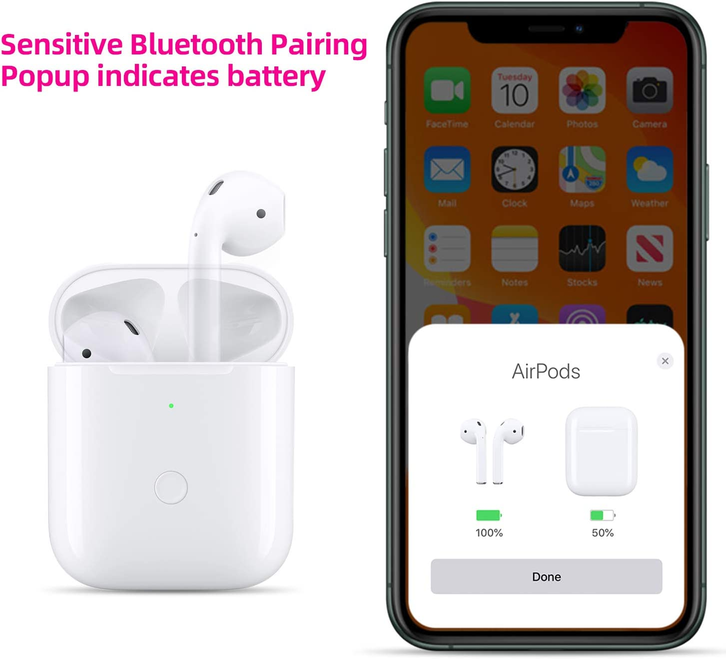 alpha-ene.co.jp Compatible for Air pods 1 2 with Bluetooth Sync ...