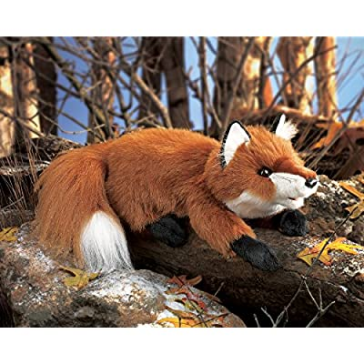 Folkmanis Small Red Fox Hand Puppet: Toys & Games