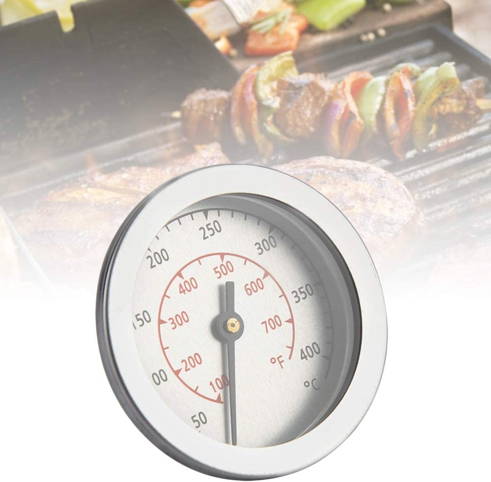 Oven Thermometers 100~700℉ BBQ Grill Thermometer Temperature Gauge Analog Dial Double Scale
