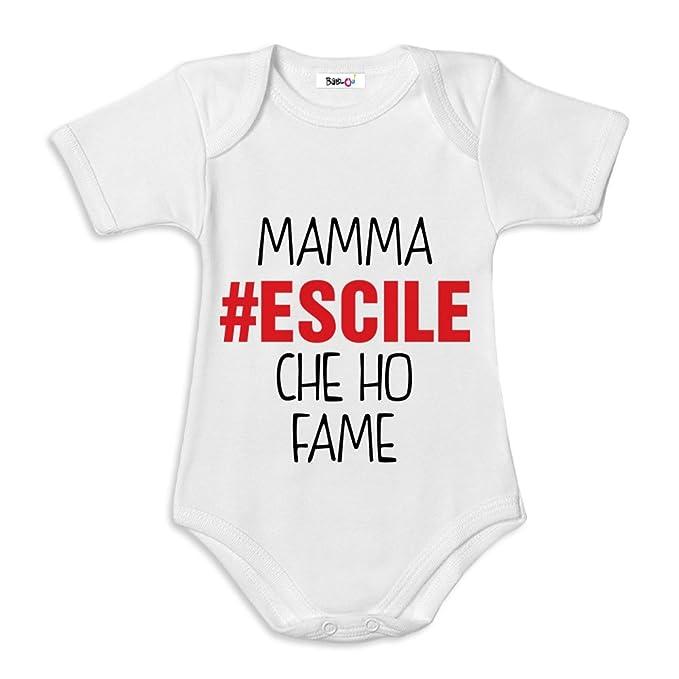 9dcb017df0f05f Body Neonato Bodino Idea Regalo Festa della Mamma Mamma Escile Che Ho Fame:  Amazon.it: Abbigliamento