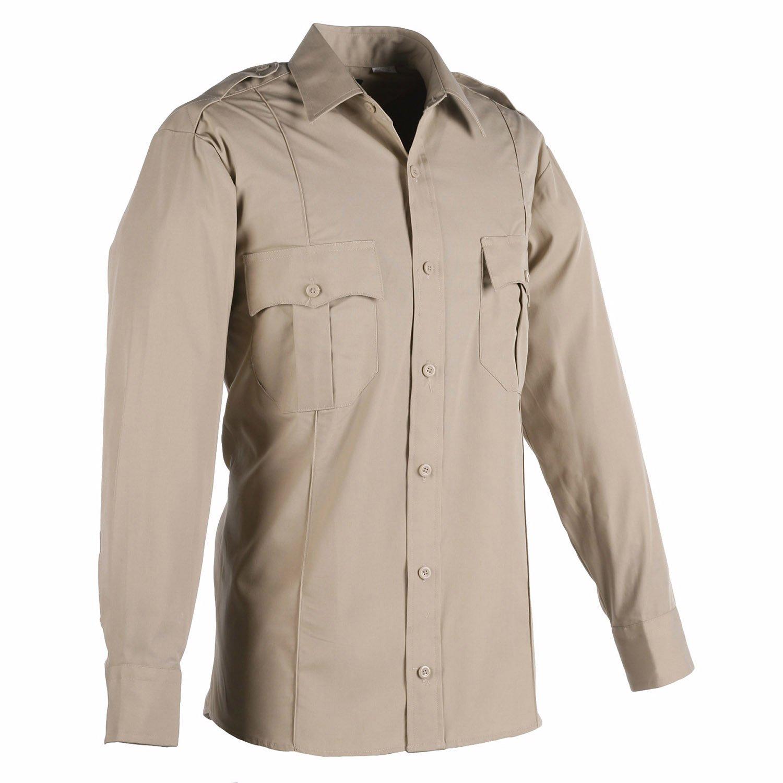 America Wear Men's Tan Long Sleeves Security Shirt