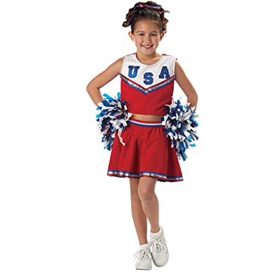 California Costumes Patriotic Cheerleader Child Costume, Small: Toys & Games