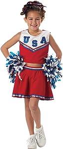 California Costumes Patriotic Cheerleader Child Costume, Large, Red